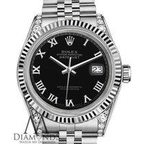 Rolex Lady's Rolex 26mm Datejust Stainless Steel Black...