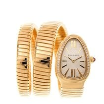 宝格丽 (Bulgari) New  Serpenti 18 K Yellow Gold Silver Quartz...