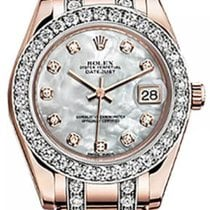 Rolex Pearlmaster 34 81285 White Mother of Pearl Diamond...