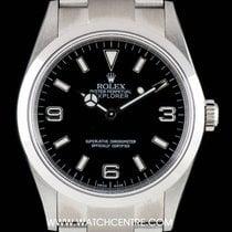 Rolex Stainless Steel Black Dial Explorer I NOS Gents B&P...