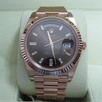 Rolex Day-Date 40 18K Everose Gold/Chocolate Diamond Dial