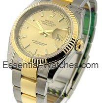 Rolex Unworn 116233 Mens 2-Tone Datejust with Oyster Bracelet...