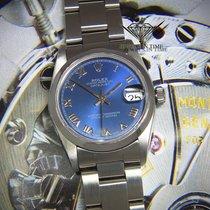 Rolex Datejust Stainless Steel Blue Roman Dial Midsize Ladies...
