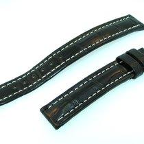 Breitling Band 15mm Croco Schwarz Black Negra Strap Für...
