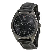 Hamilton Khaki Field Black Dial Black PVD Mens Watch H68401735