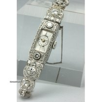 Art Deco Brillant-Platin-Damenarmbanduhr