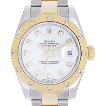Rolex Midsize 2-Tone 12 Diamond Bezel Datejust Men's/Ladie...