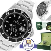Rolex Submariner Date 16610 T F Stainless Steel Black 40mm Dive