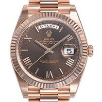 Rolex Daydate 40mm President 228235 Mens Everose Gold Chocolat...