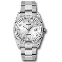 Rolex Datejust 36mm - Steel White Gold Diamond Bezel - Oyster