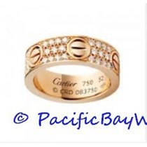 Cartier Love ring B4087600 in pink gold with paved diamonds