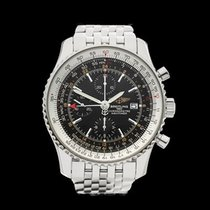Breitling Navitimer World Chronograph Stainless Steel Gents...