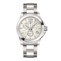 Longines Conquest Quartz Chronograph 41mm Men's Watch ...