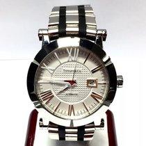 Tiffany & Co. Atlas Steel Men's Watch W Black Rubber...