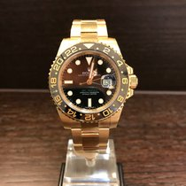 Rolex GMT-Master II Yellowgold Black Dial 116718LN