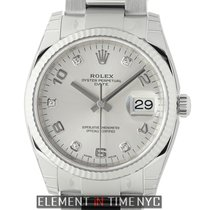 Rolex Oyster Perpetual Date 34mm Steel & 18k White Gold...