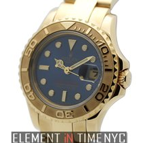 Rolex Yacht-Master 18k Yellow Gold Blue Dial 29mm