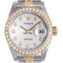 Rolex Ladies Rolex Datejust Watch 69173 Factory Rolex Silver...