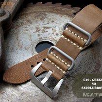 MiLTAT 26mm PAM183 Radiomir Leather ZULU Strap, Brown