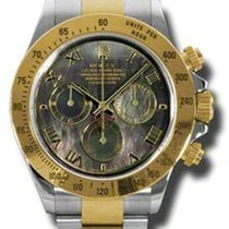 Rolex Daytona Yellow Gold Black Mother of Pearl Dial 116523