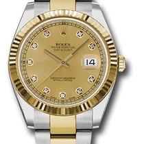 Rolex Datejust , Ref. 126333 - champagne Diamant ZB/Oysterband
