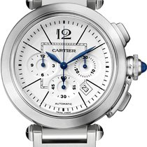 Cartier Pasha 42mm Chronograph Stainless Steel Watch