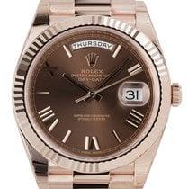 Ρολεξ (Rolex) Rolex Day-Date 40 Everose Gold Chocolate/Roman...