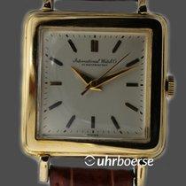 IWC Schaffhausen Vintage Armbanduhr Carré Gelbgold 18kt