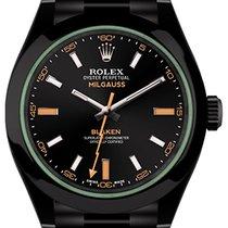Rolex Milgauss  GV (black, DLC) by Blaken