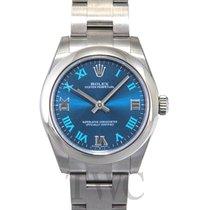 롤렉스 (Rolex) Oyster Perpetual Midsize Blue/Steel Roman Ø31 mm -...
