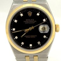 Rolex Two Tone 18k Solid Gold Steel Datejust Oyster Diamond...