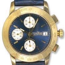 Condor Automatic Chronograph Tachymetre Scale 18k Gold Mens...