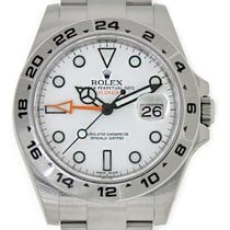 Rolex EXPLORER II 2 Stainless Steel White Dial