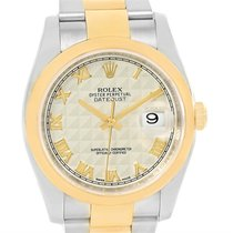 Rolex Datejust Steel 18k Yellow Gold Anniversary Dial Watch...