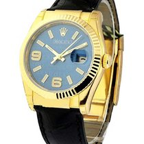Rolex Unworn 116138_blue_arabic Mens Yellow Gold Datejust with...
