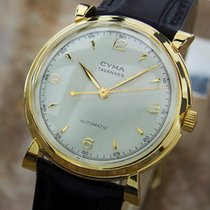 Cyma Swiss Made Bumper 33mm Automatic 1960s Vintage Gold...