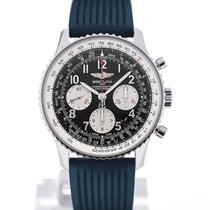 Breitling Navitimer 01 43 Arabic Numeral Blue Rubber Strap Buckle