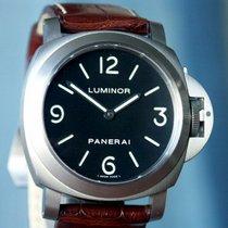 Panerai PAM 176 Luminor Base Titanium Black Sandwich Dial,...