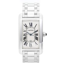Cartier Tank Americaine Men's Watch Silver Dial CRW26055L1