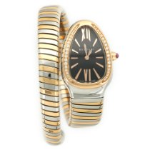 Bulgari Two-Tone Serpenti Tubogas Diamond Watch Ref. SP35SPG