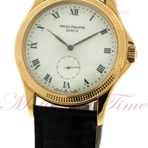 Patek Philippe Calatrava, White Dial - Yellow Gold on Strap