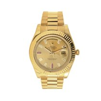 Rolex Day Date II President 18K Solid Gold Diamond & Ruby
