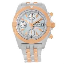 Breitling Chrono Galactic Stainless Steel Rose Gold Watch C13358