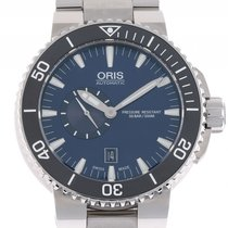 Oris Aquis Small Second Date Stahl Automatik Armband Stahl 46mm