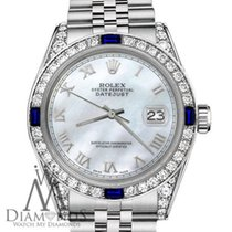 Rolex 26mm Datejust White Mop Roman Numeral Dial With Sapphire...