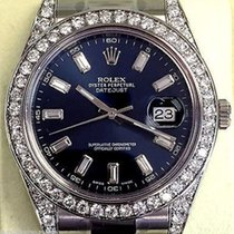 Rolex Mens Datejust Ii 41 Mm Steel Model 116300 Diamond Bezel...