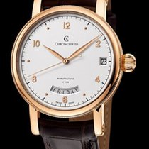 Chronoswiss Sirius Day Date Manufacture Red Gold-Silver Dial...