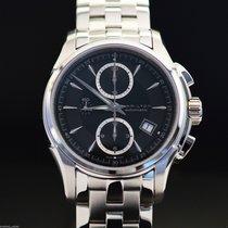 Hamilton JAZZMASTER AUTO CHRONO Black Dial-Steel Bracelet...