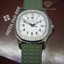 Patek Philippe Aquanaut 5067 Luce Steel Diamond Bezel Green...
