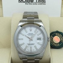 ロレックス (Rolex) Datejust II White Index Dial Smooth Bezel 41mm...